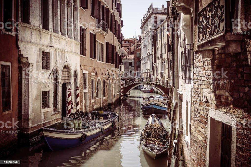 Venice city center view. stock photo