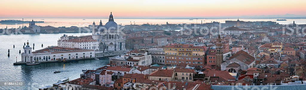 Venice city (Italy) panorama. stock photo