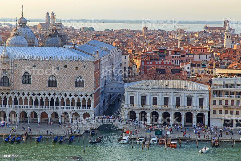 Venice cityscape on sunset royalty-free stock photo