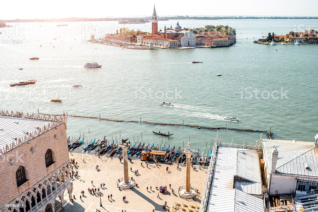 Venice cityscape view stock photo