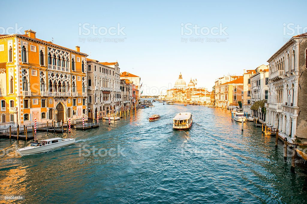 Venice cityscape view stock photo