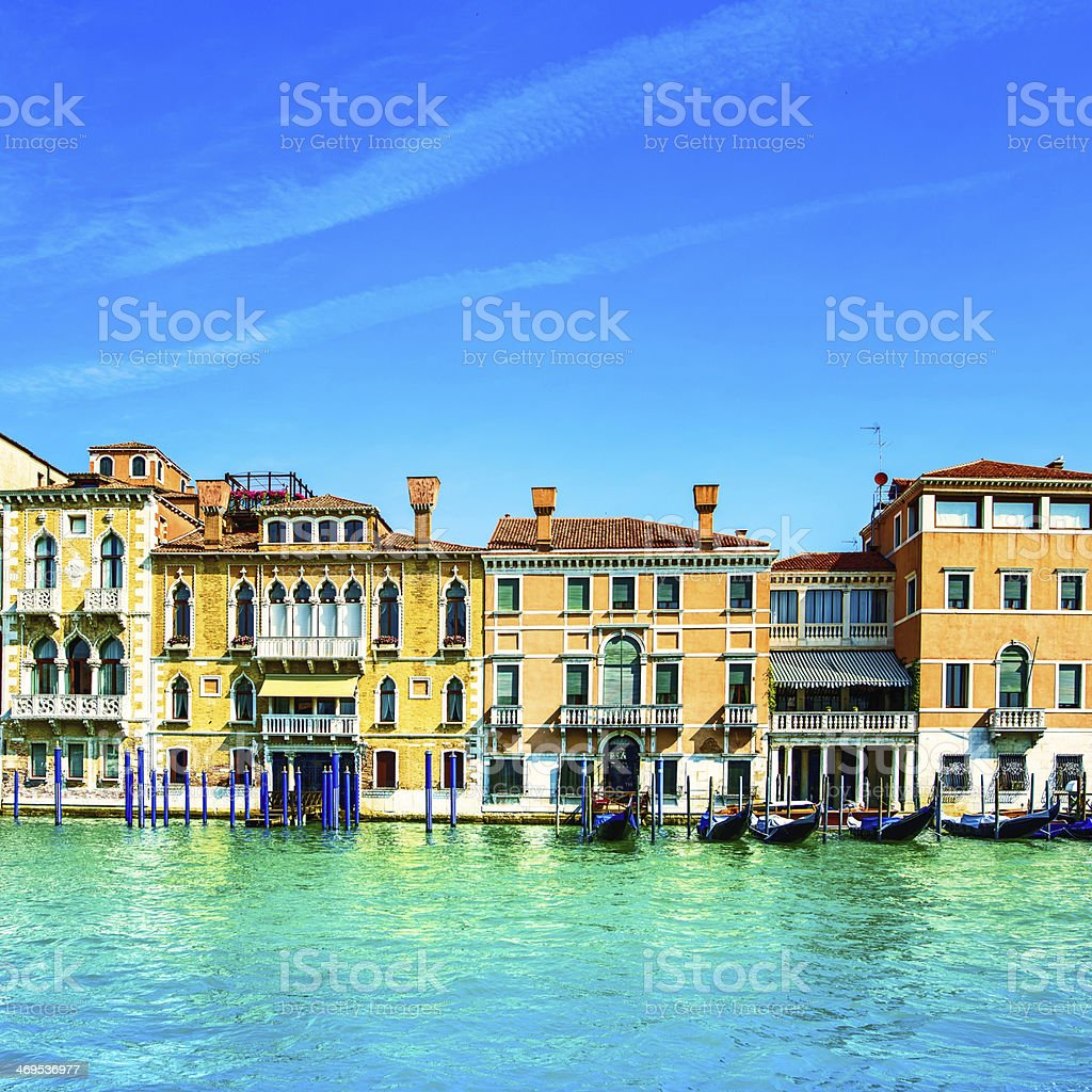 Venice cityscape, water grand canal and traditional buildings. I royalty-free stock photo