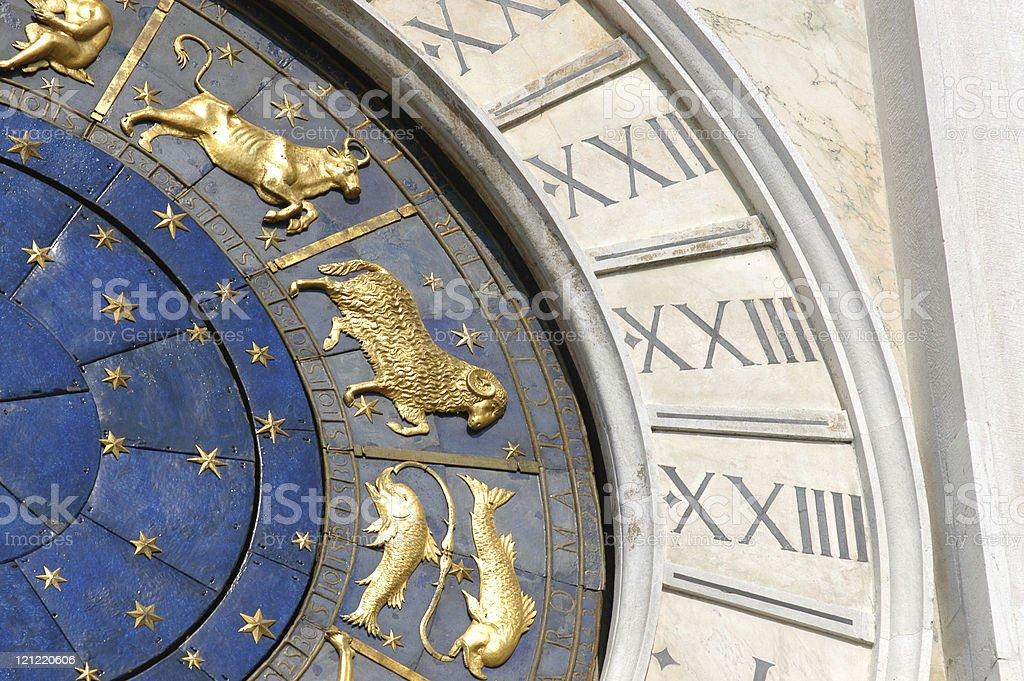 Venice Clock, closeup detail. royalty-free stock photo