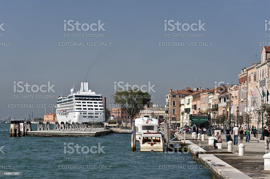 Venice Cruise on the Oceania Nautica stock photo