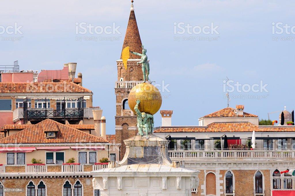 Venice Dogana da Mar stock photo