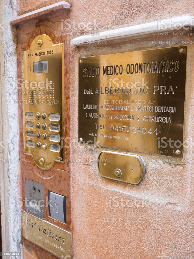 Venice Door Intercom Systems stock photo