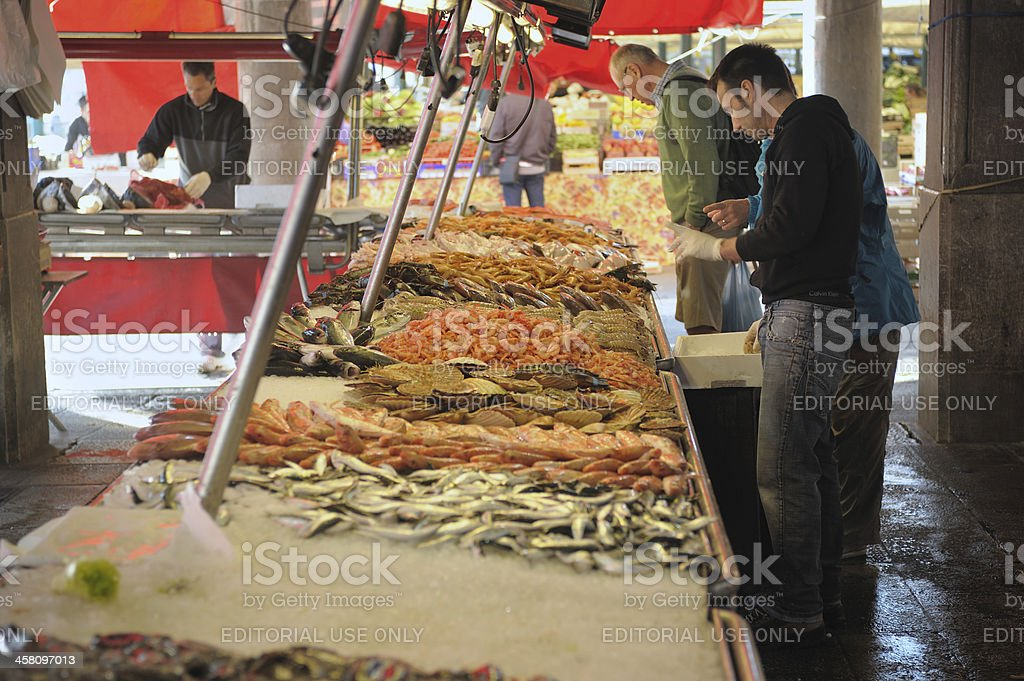 Venice fish market royalty-free stock photo