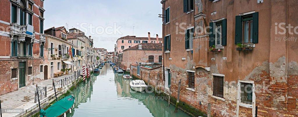 Venice fondamenta villas panorama royalty-free stock photo