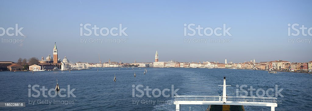 Venice from the ferry royalty-free stock photo