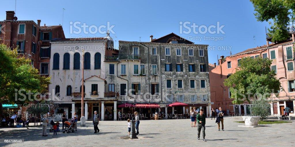 Venice. Ghetto Novo stock photo
