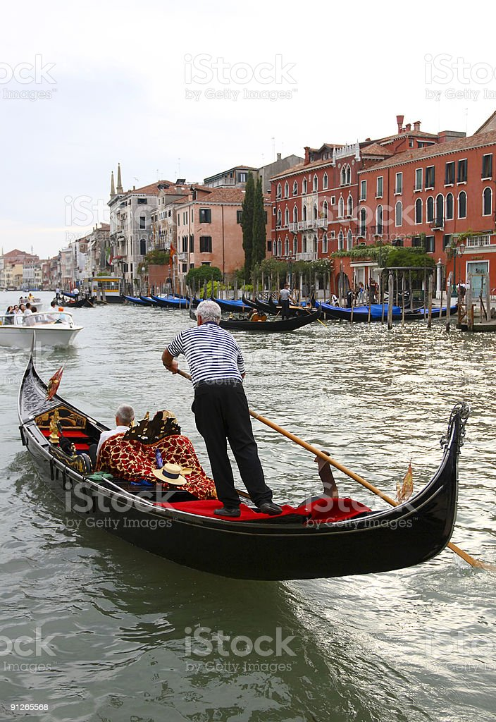 Venice - Gondola on Canal Grande royalty-free stock photo