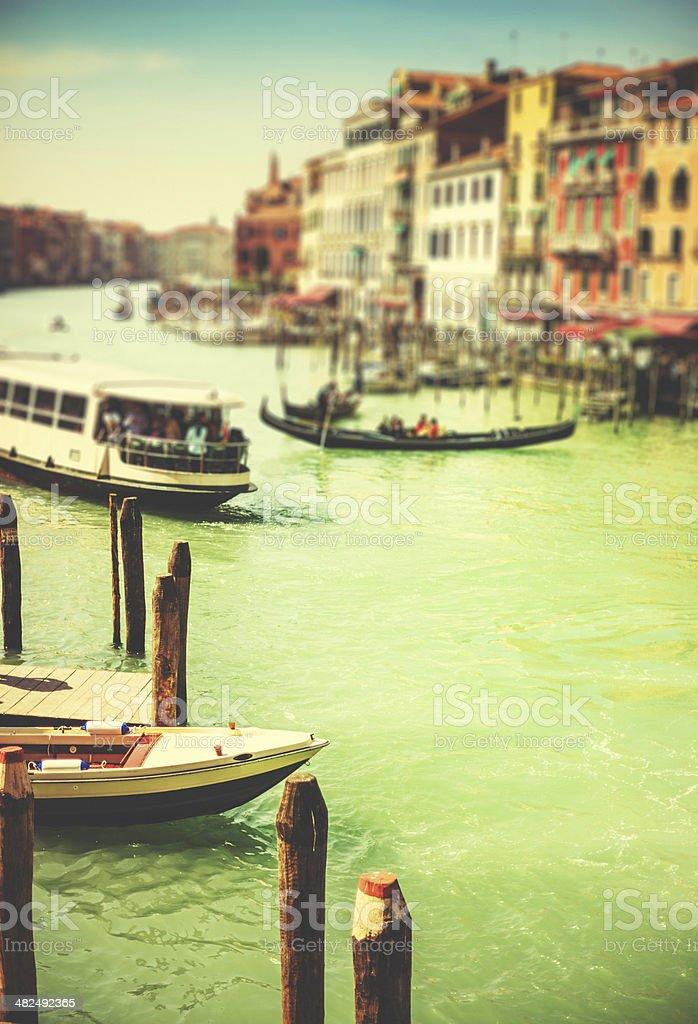 venice gondolas on canal grande royalty-free stock photo