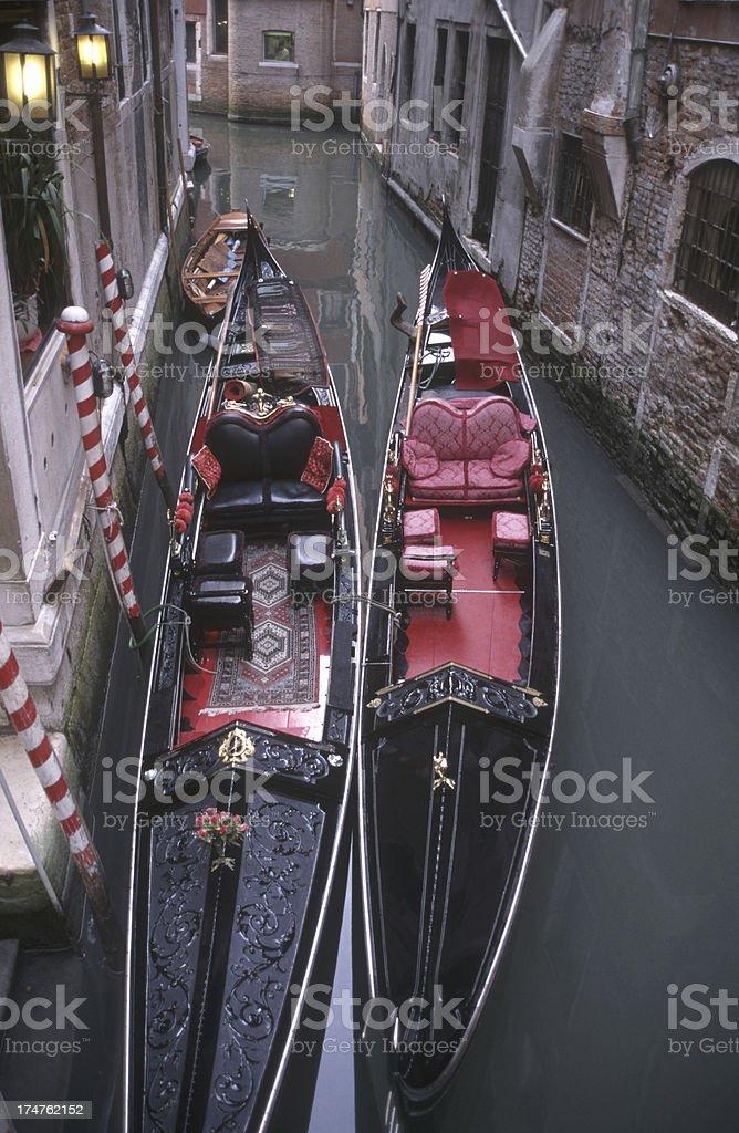 Venice gondolas. royalty-free stock photo