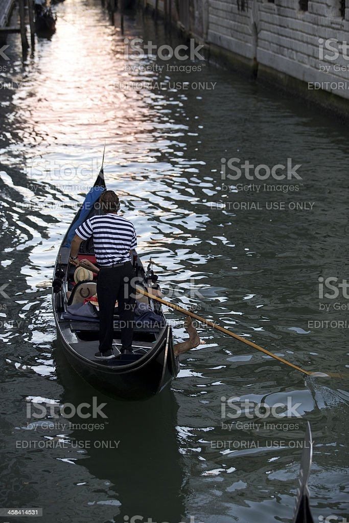 Venice Gondolier royalty-free stock photo
