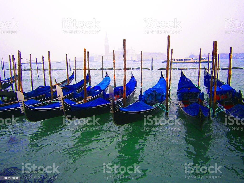 Venice Gondoliers stock photo