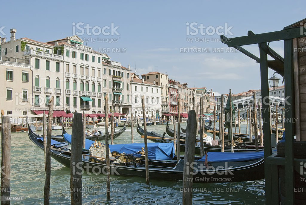 Venice Grand Canal and Rialto's view royalty-free stock photo