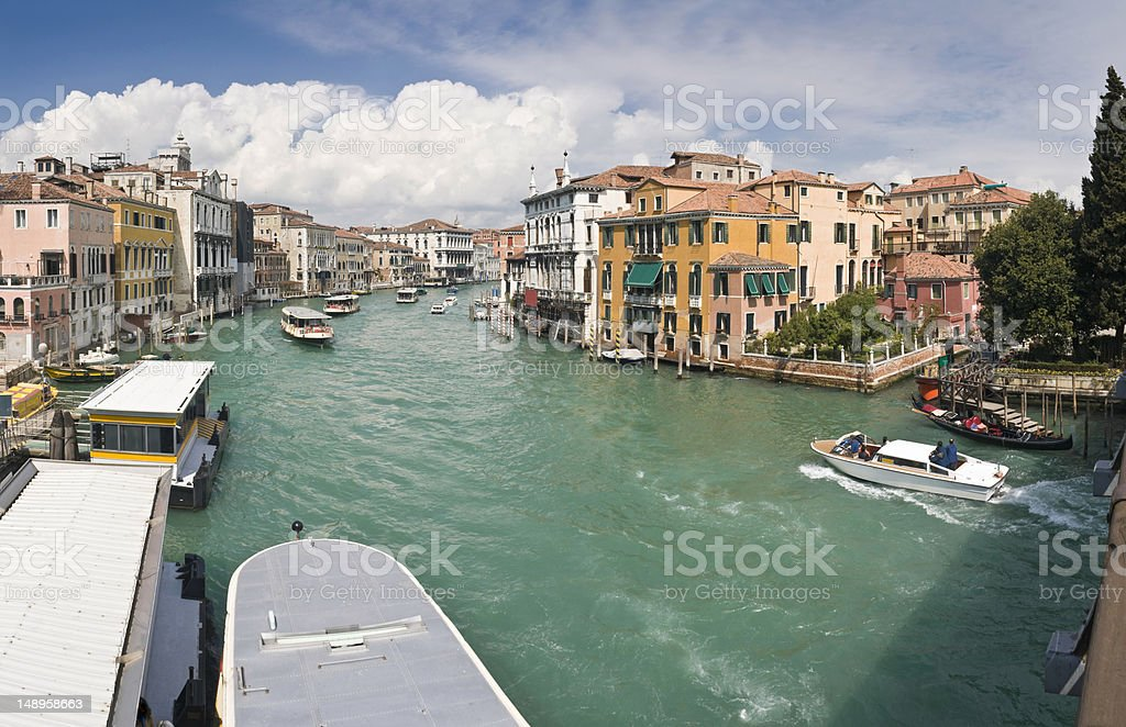 Venice Grand Canal at Accademia royalty-free stock photo