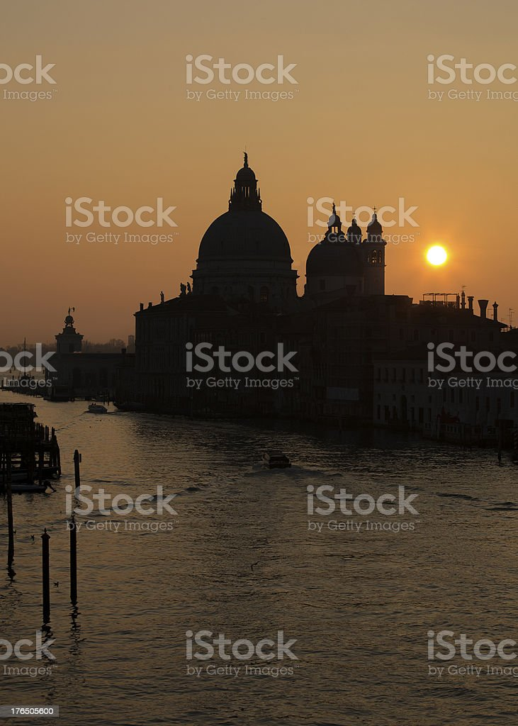Venice - Grand Canal At Sunrise royalty-free stock photo
