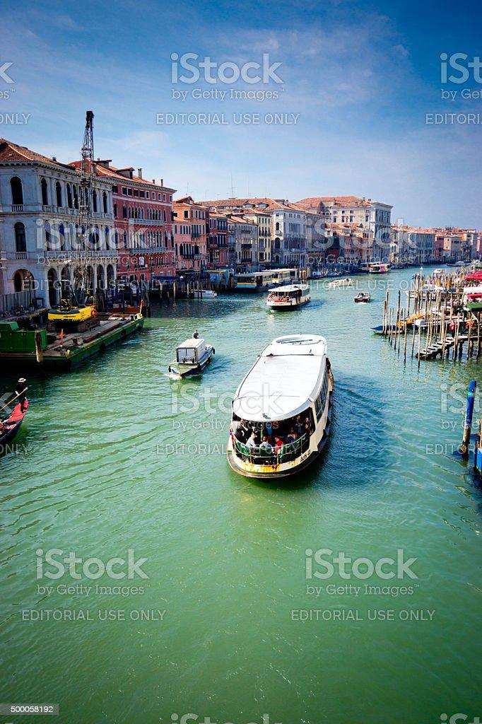 Venice Grand Canal at sunrise stock photo