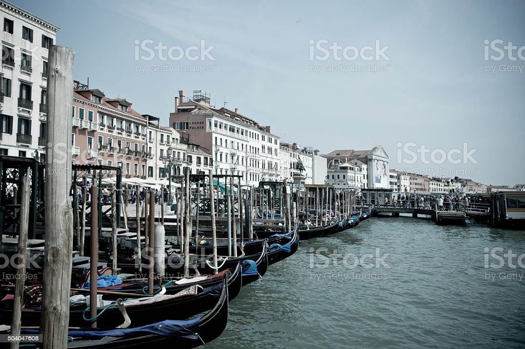 Venice Grand Canal at sunrise stock photo