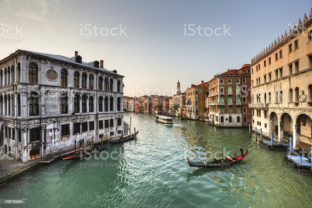 Venice Grand Canal at Sunset royalty-free stock photo