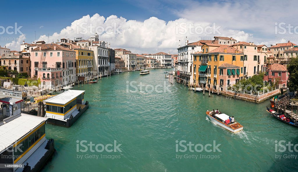 Venice Grand Canal from Accademia royalty-free stock photo