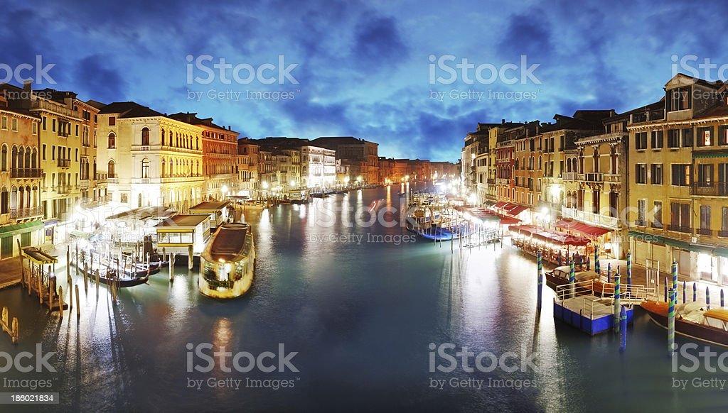 Venice - Grand Canal from Rialto bridge, Italy royalty-free stock photo