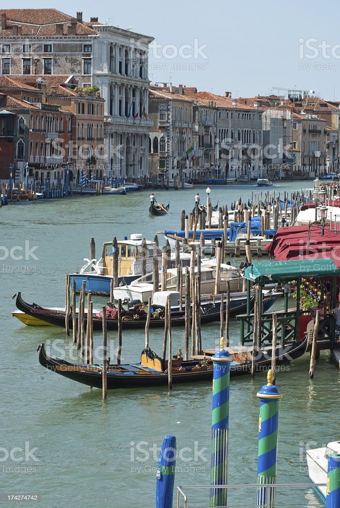 Venice Grand Canal gondolas royalty-free stock photo