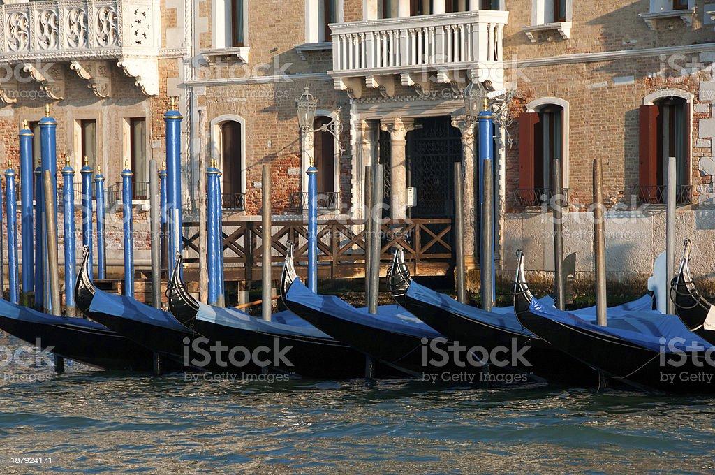 Venice Grand Canal Gondolas royalty-free stock photo