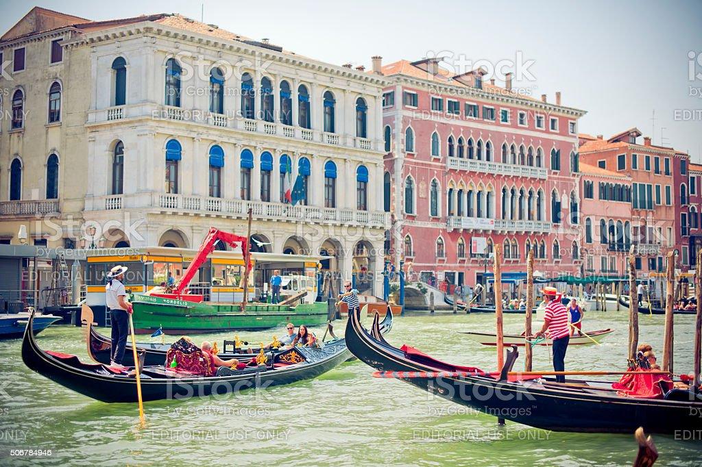 Venice Grand canal, Italy stock photo