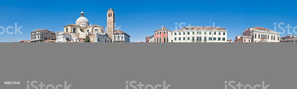 Venice Grand Canal panorama stock photo