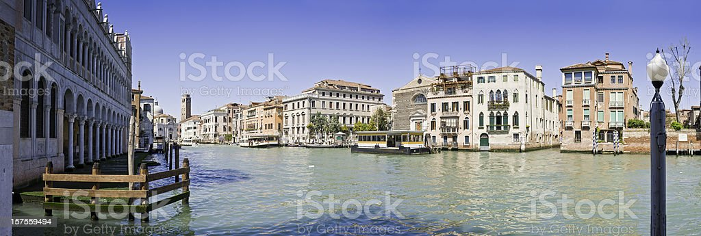 Venice Grand Canal San Marcuola water bus palazzo panorama Italy royalty-free stock photo
