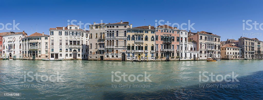 Venice Grand Canal villas and palaces panorama Italy royalty-free stock photo