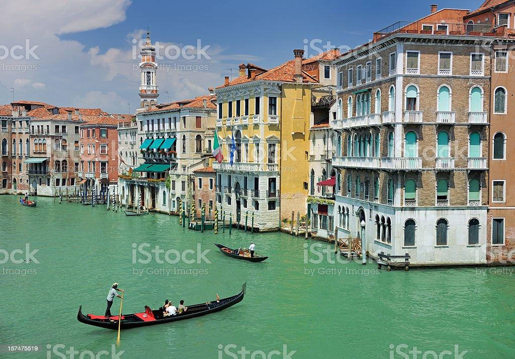 Venice Grand Canal with Gondola (XXXL) stock photo