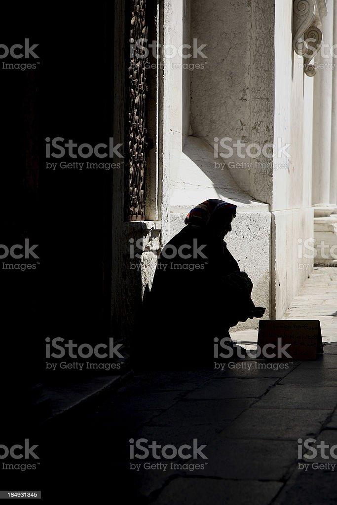 Venice: Gypsy Beggar royalty-free stock photo