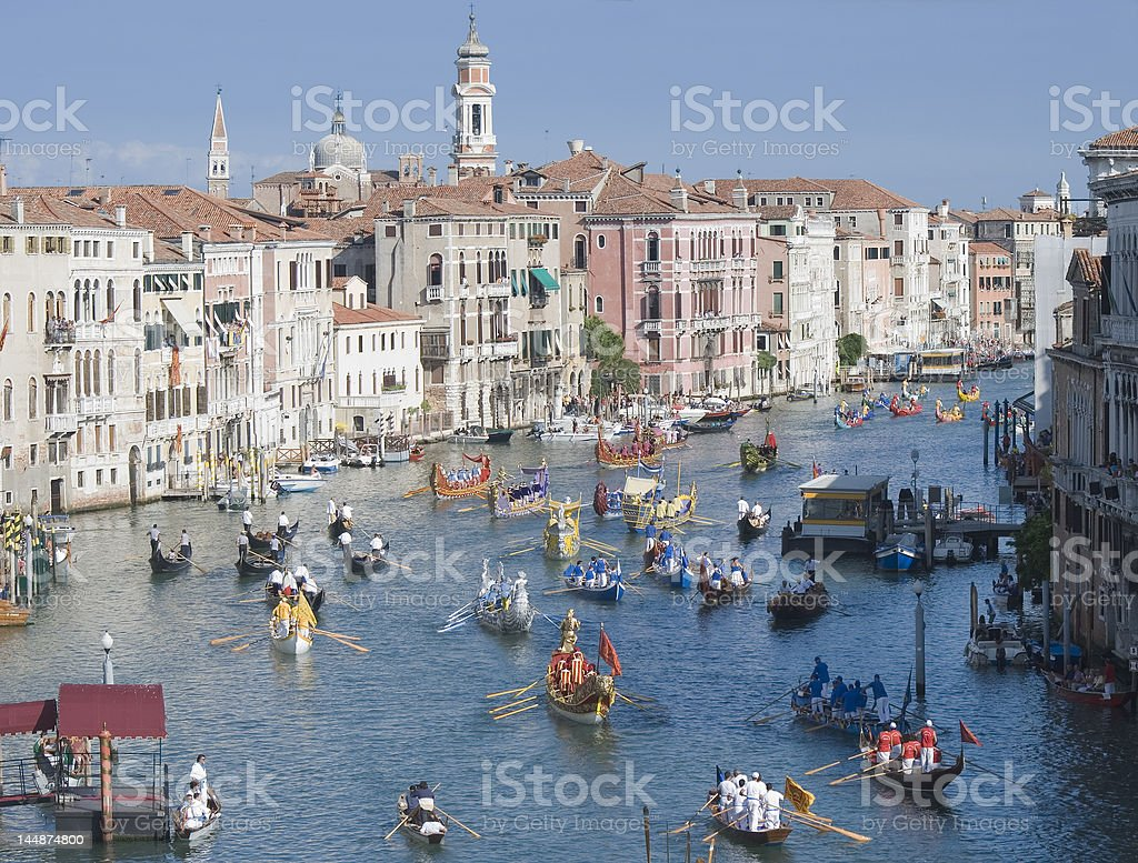 Venice Historical Regatta stock photo