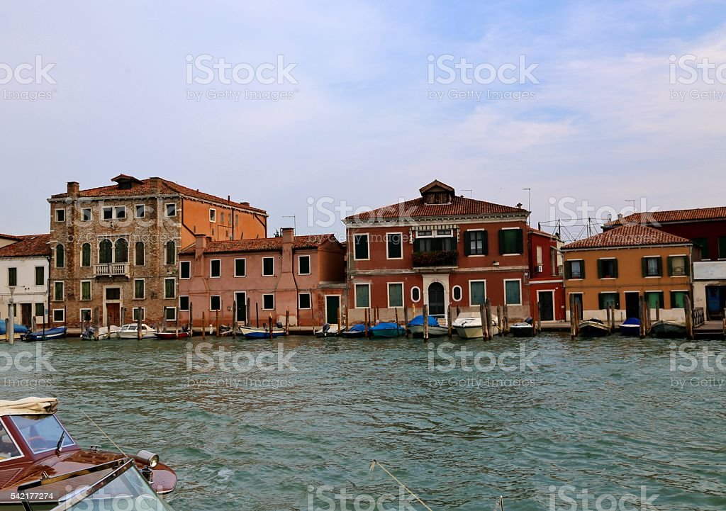 Venice homes on Canal stock photo