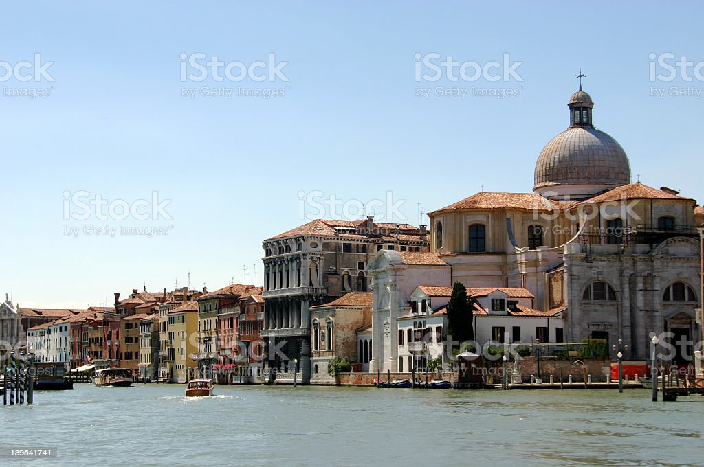 Venice - houses at the Canal Grande royalty-free stock photo