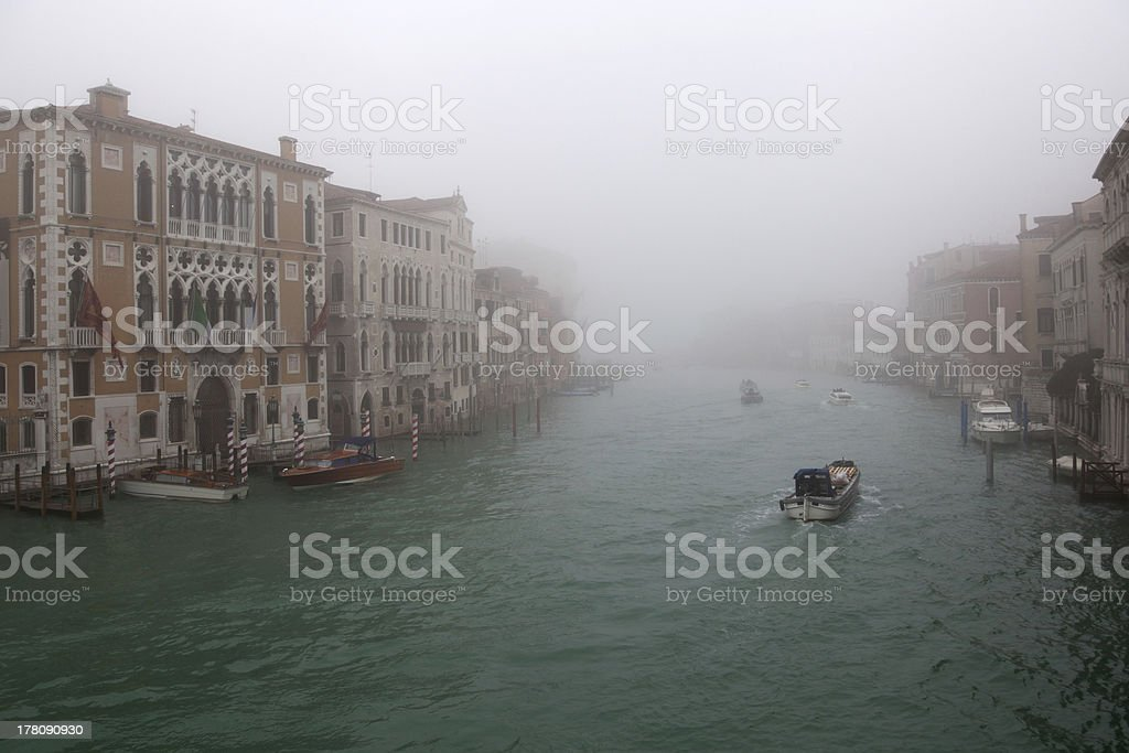 Venice in fog royalty-free stock photo