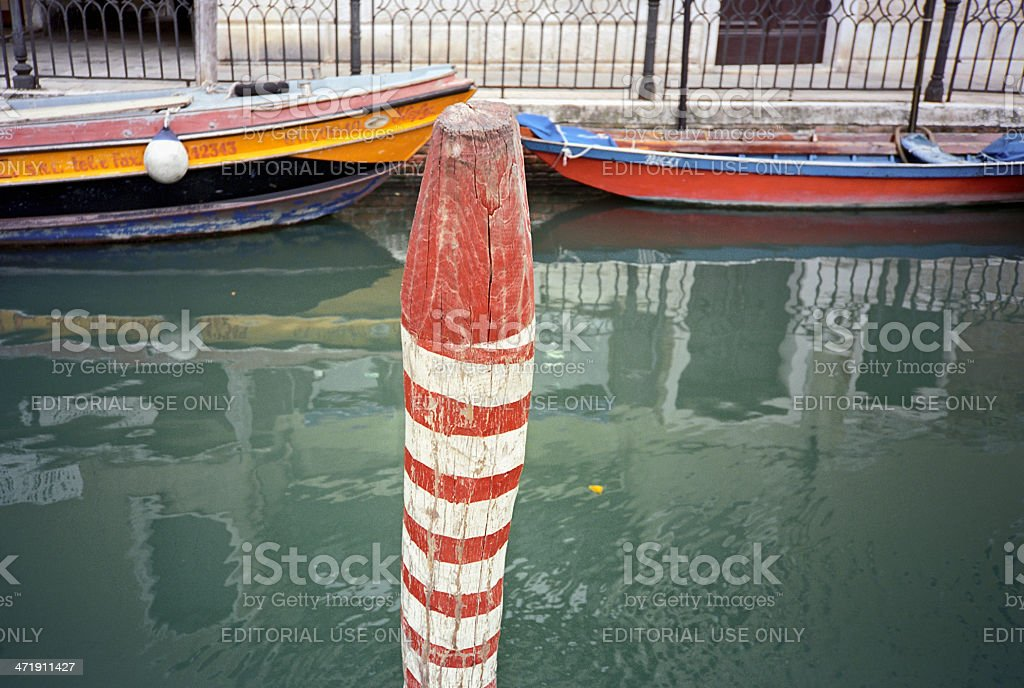 Venice in red and white stripes royalty-free stock photo