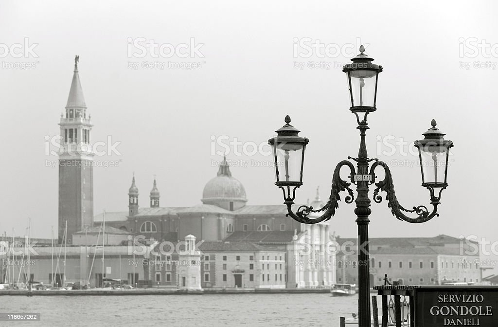 Venice in sepia royalty-free stock photo