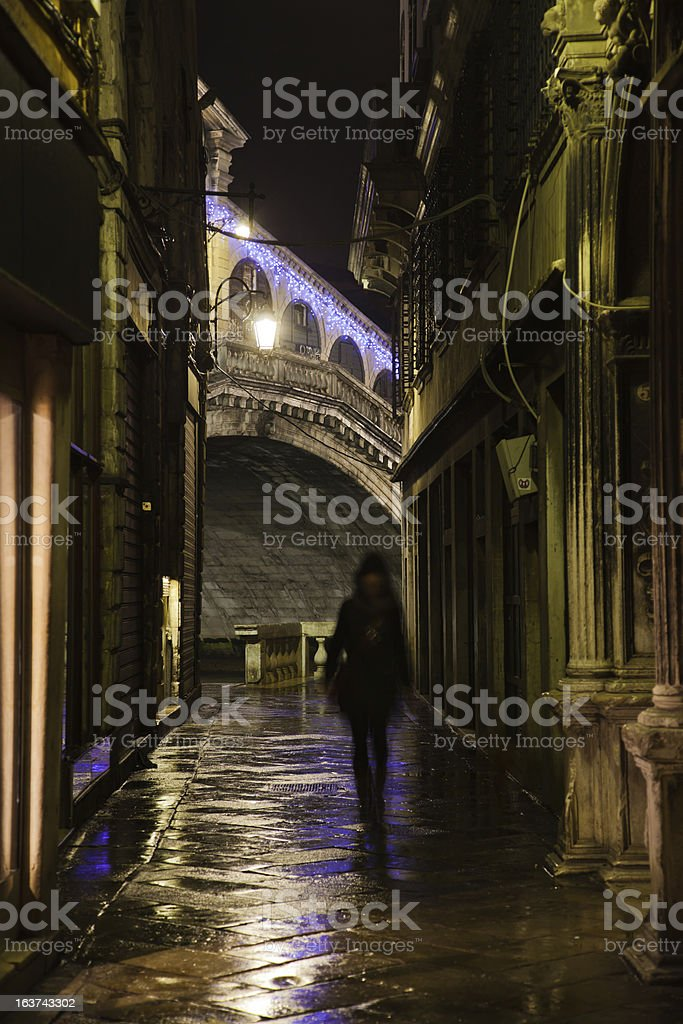 Venice in the darkness royalty-free stock photo