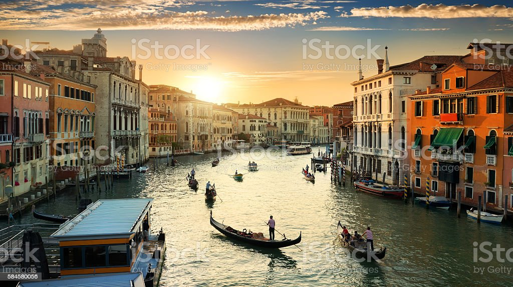 Venice in the evening stock photo