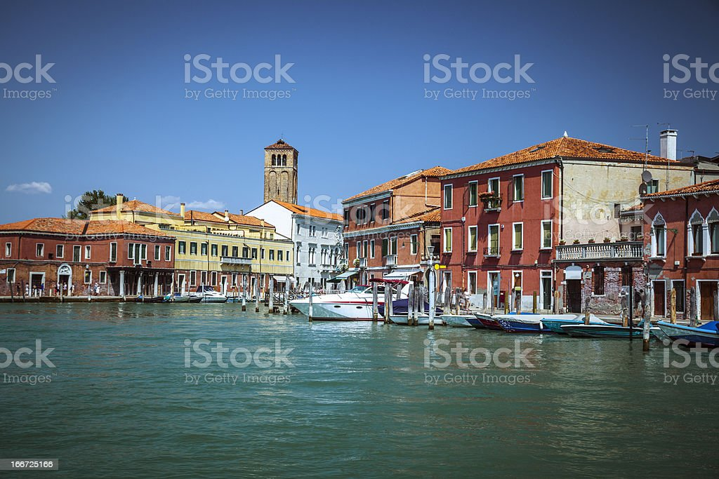 Venice: Island of Murano stock photo