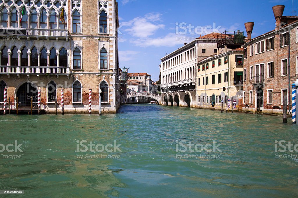 Venice, Italy: Buildings on the Grand Canal stock photo