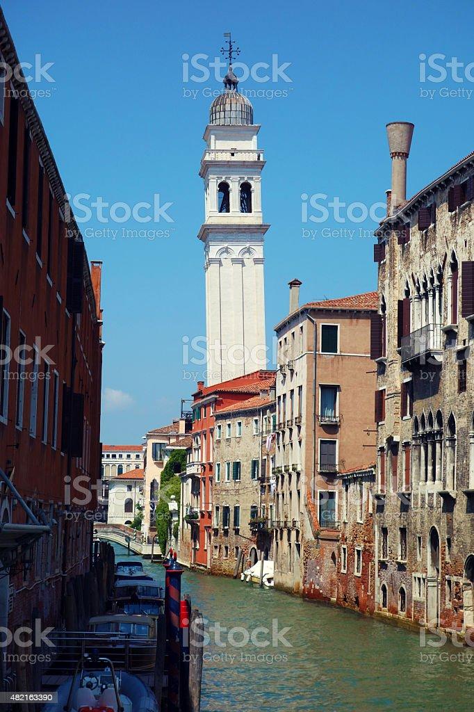 Venice – Italy, Chiesa di San Giorgio dei Greci stock photo