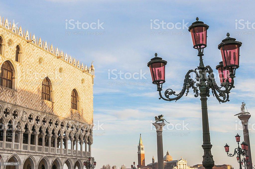 Venice, Italy. Doge's Palace and Basilica di San Giorgio Maggior royalty-free stock photo