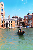 Venice, Italy: Gondolier On the Grand Canal