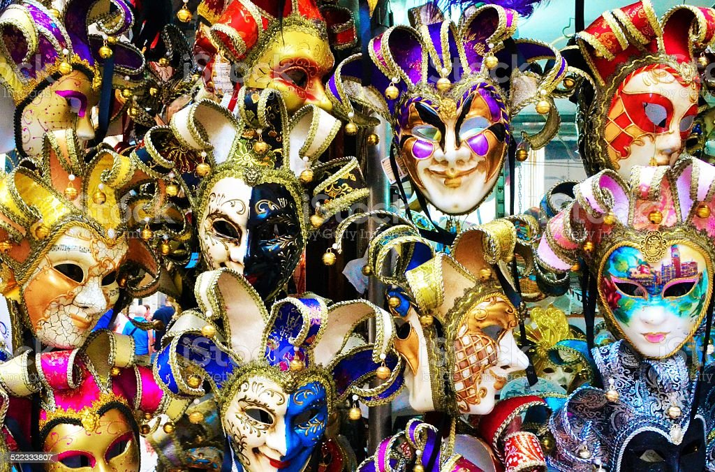 Venice, Italy. Masks stock photo