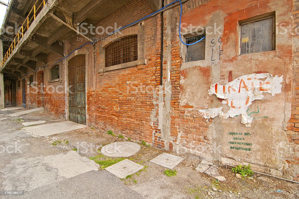 Venice Italy old  port industrial building royalty-free stock photo